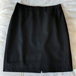J. Crew Pencil Skirt, Black 0P